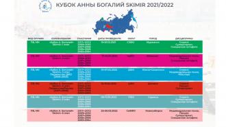 Календарь сезона 2021/2022